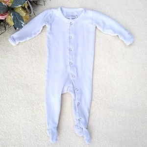L'ovedbaby Organic Cotton Snap Footie in white